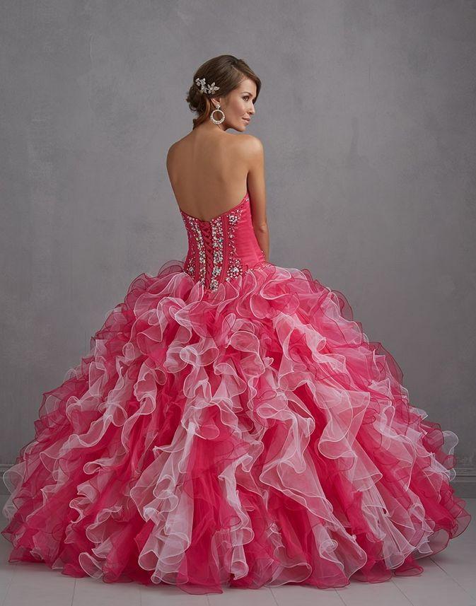 ombre plesové šaty na maturitní ples růžovobílé. plesové šaty » ... 7299ebbf32f